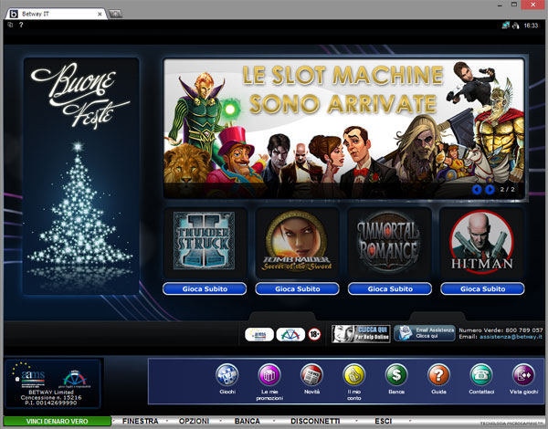 "Betway.it presenta l'offerta di slot machines online più ampia con classici come ""Tomb Raider"", ""Hitman"" e ""Thunderstruck II"""