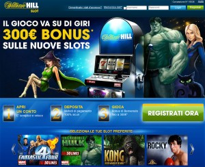 Da oggi su William Hill le slot machine online, e che slot!