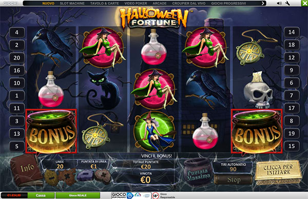 Halloween Fortune, la slot machine playtech giusta per Halloween!